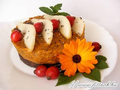 Sütőtökös-csipkebogyós téli antioxidáns desszert chia maggal