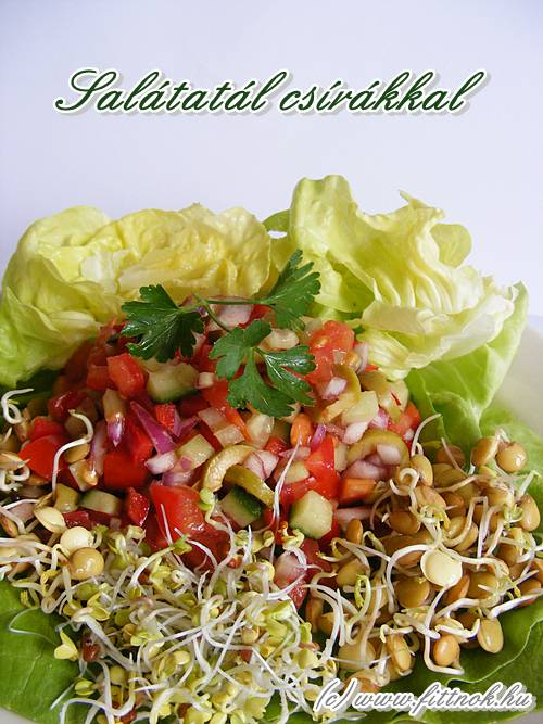 Salátatál csírákkal
